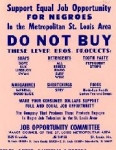 NAACP Flier: Support Equal Job Opportunity for Negroes, 1964
